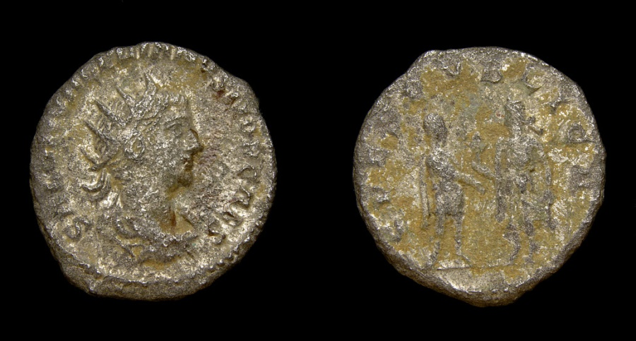 Ancient Coins - Saloninus, As Caesar, A.D. 258-260, BI Antoninianus (20 mm, 3.82 gm., 12h), Samosata mint, Fine+