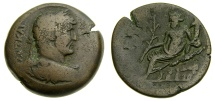 Ancient Coins - Roman EGYPT, Alexandria, Hadrian, A.D. 117-138, Æ Drachm (33 mm, 25.87 gm., 11h), Dated RY 16 (A.D. 131/2) Fine Nilus