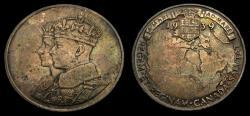 Ancient Coins - Canada 1939 Royal Visit to Canada King George VI Choice Toning UNC