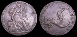 Ancient Coins - Conder Tokens 1792 Warwickshire Half Penny Token Birmingham Mining and Copper Company VF+ 6322