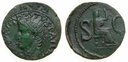 Ancient Coins - Divus Augustus, Died AD 14, Æ As (28 mm, 9.92 g, 12h), Rome mint, Struck under Tiberius, circa AD 15-16 VF