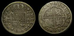 World Coins - SPAIN, Felipe V (First reign as King, 1700-1724) AR 2 Reales (26 mm, 5.04gm) 1721-A Madrid Mint Good VF