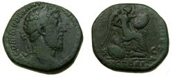 Ancient Coins - Commodus, A.D. 177-192, Æ Sestertius (29 mm, 20.45 g, 11h), British Victory issue, Rome mint, Struck A.D. 185  Fine