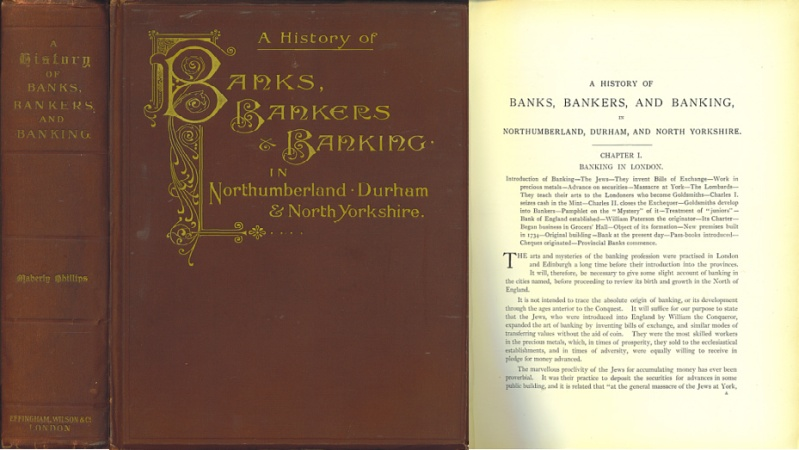 World Coins - Rare - A History of Banks, Bankers and Banking in Northumberland, Durham, and North Yorkshire by Maberly Phillips