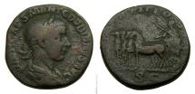 Ancient Coins - Gordian III, A.D. 238-244, Æ Sestertius (28 mm, 17.69 gm., 12h), Rome mint, Struck A.D. 240, Fine, George His Collection Very Rare