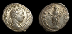 Ancient Coins - Severus Alexander (A.D. 222-235) AR Denarius (20 MM, 2.49 GM, 1 H) Struck AD 223, Good VF