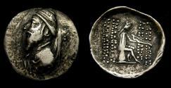 Ancient Coins -  KINGS of PARTHIA, Artabanos I, 126-122 BC. AR Drachm (21 mm, 4.08 gm., 11h), Ekbatana (?) mint VF