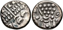 Ancient Coins - CELTIC, Durotriges, Uninscribed Coinage, Circa 58-20 B.C. AR Stater (17.5mm, 3.63 g, 12h). Cranborne Chase (Durotrigan E) type Ex CNG