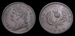 Ancient Coins - Nova Scotia 1824 Token George VI One Penny Token VF-30 NS-2A4 BR-868