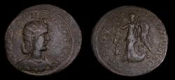 Ancient Coins - CILICIA, Tarsus, Otacilia Severa, Augusta, AD 244-249. Æ Tetrassarion (33 mm, 19.45 gm., 12h) Good VF