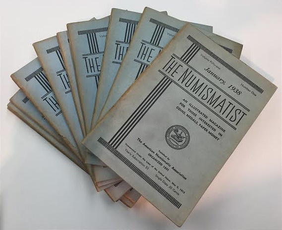 Ancient Coins - The Numismatist by The American Numismatic Association - Complete Set of 12 Monthly Issues for 1938.