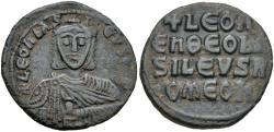 Ancient Coins - Byzantine Empire, Leo VI the Wise, 886-912, Æ Follis (25mm, 6.55 g, 6h), Constantinople mint Good VF