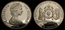 World Coins - 1978 Tristan Da Cunha Silver Crown .925 .841 Oz. KM# 2A Proof