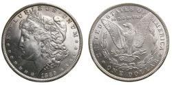 Us Coins - United States Moragan Silver Dollar 1889 Choice UNC