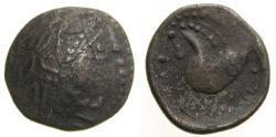 Ancient Coins - CELTIC, Northern Carpathian Region, The Costobocii(?) 2nd century B.C. AR Tetradrachm (21 mm, 8.17 g, 1h) Schnabelpferd Type VF