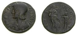 Ancient Coins - PISIDIA, Etenna, Julia Paula, first wife of Elagabalus, Æ 30 mm (18.37 gm, 6h) Von Aulock Plate Coin