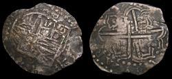 World Coins - Spanish Colonial Potosi Bolivia Philip IV 1621-65 Silver Cob 8 Reales (26.20 gm) KM#19 Toned VF+ 6368
