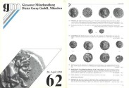 Ancient Coins - Gorny & Mosch - Giessner Munzhandlung - Auction 62 - April 20, 1993 - Ancient Coins