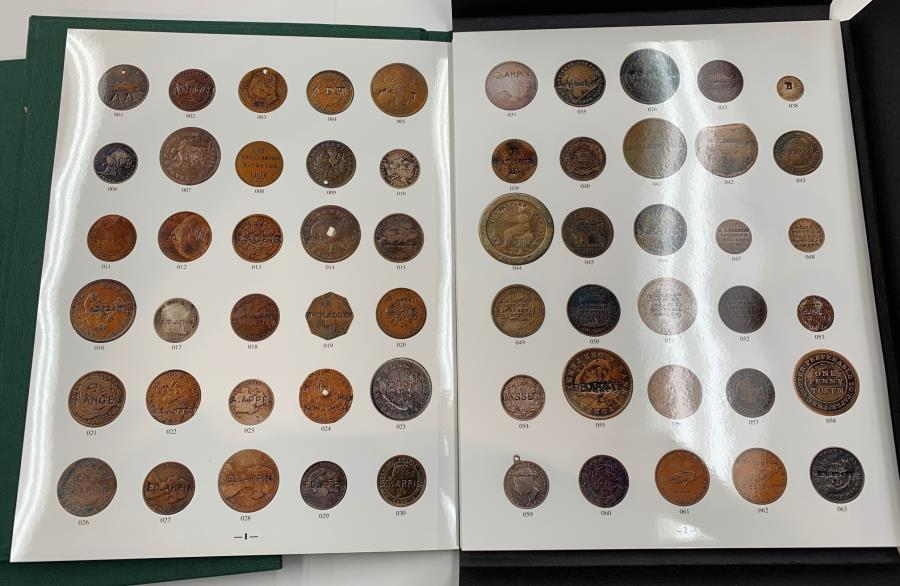 MARKED IMPRESSIONS by Warren Baker JOSEPH FOSTER COLLECTION COUNTERMARKED COINS