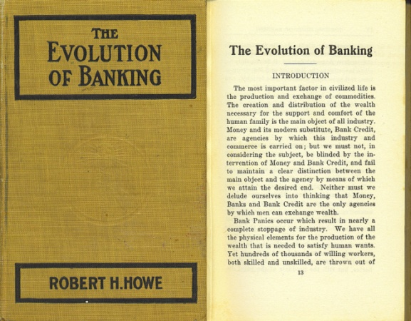 World Coins - The Evolution of Banking: a Study of the Development of the Credit System by Robert Harrison Howe (1915) - Uncommon