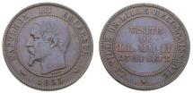 World Coins - France 1853 10 Centimes Medallic Coin Emperor's Visit to Lille Bourse KM#M24 EF+