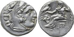 Ancient Coins - KINGS OF MACEDON, Alexander III 'the Great' 336-323 BC, AR Drachm (16 mm, 4.20 g, 9h) Lampsakos Mint, Struck under Antigonos I Monophthalmos circa 310-301 BC Good VF