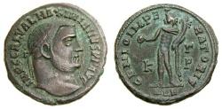 Ancient Coins - Galerius, As Augustus, A.D. 305-311, Æ Follis (24 mm, 6.48 gm., 12h), Alexandria, Struck A.D. 308-310 Good VF/aEF