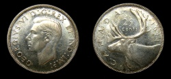 World Coins - Canada 1944 25 Cents MS-64