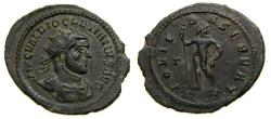 Ancient Coins - Diocletian, AD 284-305, Antoninianus (25 mm, 3.38 gm., 12h), Ticinum mint, 3rd officina, Struck AD 285 Good VF
