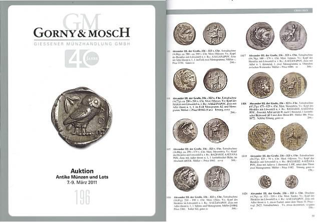 Ancient Coins - Gorny & Mosch Giessner Munzhandlung - Auction 196 - March 7, 2011 - Ancient Coins and Lots