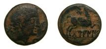 Ancient Coins - SPAIN, Damaniu, Aragon region. 2nd Century BC, Æ As (25mm, 10.38 g, 6h) aVF, Very Rare