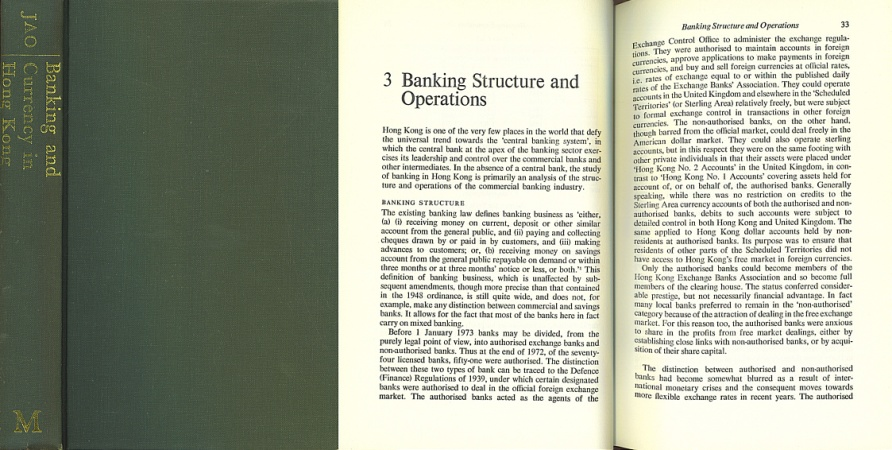 Banking and Currency in Hong Kong: A Study of Postwar Financial Development