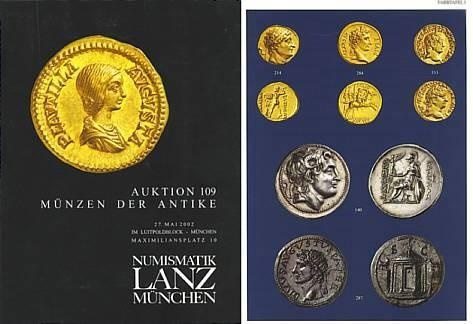 Ancient Coins - Numismatik Lanz Auktion 109 - May 27, 2002 - Munzen der Antike - Lanz 109 Auction Catalogue - Greek, Roman and Byzantine Coins