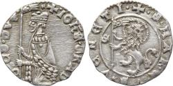 Ancient Coins - ITALY, Venice, Dodge Giovanni Gradenigo, 1355-1356, AR Soldino (14 mm, 0.52 g, 10h) EF