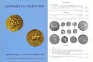 Ancient Coins - Monnaies de Collection, Monte-Carlo - Gadoury / Poinsignon - Ancient, French and World Coins - Excellent Sale - Octobre 13-15, 1980 - Greek Coins - Stephanophori - French Coins