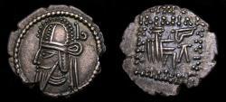 Ancient Coins - KINGS of PARTHIA, Vologases VI, Circa AD 207/8-221/2, AR Drachm (19 mm, 3.60 g, 12h), Ekbatana mint EF