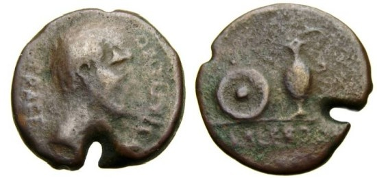 Ancient Coins - SPAIN, Uncertain Southern Mint, Cn. Statilius Libo, Prefect, Mid to late 1st century B.C. Æ 21 mm (6.47 gm., 2h), Struck circa 43-36 B.C. or later, Fine