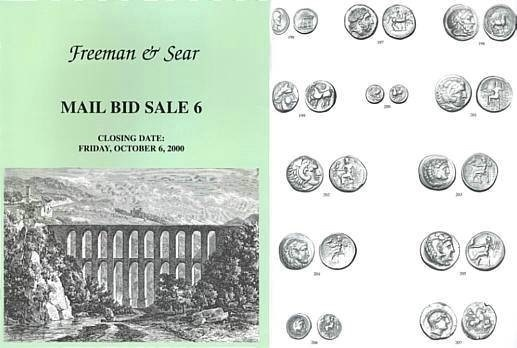 Ancient Coins - Freeman & Sear, Mail Bid Sale 6, October 6, 2000 - Collection of High Quality Byzantine Bronze Coins Collection of Roman Provincial Coins Featuring Architectural Reverse Types