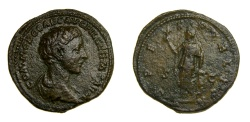 Ancient Coins - Commodus as Caesar (A.D. 166-177) AR As (20.5 MM, 12.19 GM, 12 H) Struck AD 175-176 at Rome Mint, VF
