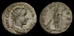 Ancient Coins - Gordian III, A.D. 238-244, AR Antoninianus (21 mm, 4.02 gm., 2h), Rome, Struck A.D. 239, gVF/aVF