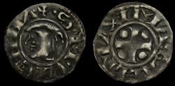 World Coins - France Vienne Anonymous Denier Circa 1200s AR (0.92g, 18mm, 1h) St. Maurice Good VF+