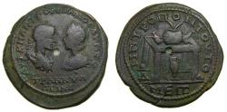 Ancient Coins - MOESIA INFERIOR, Tomis, Gordian III with Tranquillina, AD 238-244, Æ 4 Assaria (28mm, 14.86 g, 7h) Good VF Rare