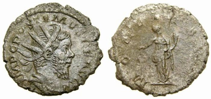 Ancient Coins - POSTUMUS, 260-269 A.D. Antoninianus (22 mm, 2.70 gm., 1h) Struck 260-269 A.D., Lugdunum Mint Good VF Moneta