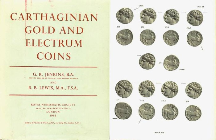 Ancient Coins - Carthaginian Gold and Electrum Coins by Jenkins, G.K., & R.B. Lewis