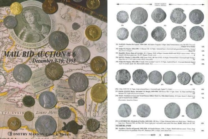 Ancient Coins - Dmitry Markov - Mail Bid Auction #6 - December 9-10, 1998 - Pre-Islamic, Islamic, Russian Coins