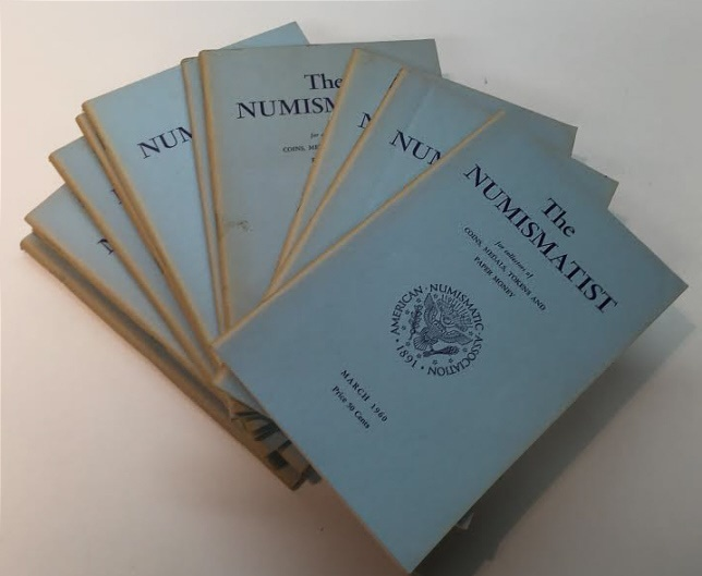 Ancient Coins - The Numismatist by The American Numismatic Association - Complete Set of 12 Monthly Issues for 1960.