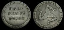 Ancient Coins - Isle of Man Ramsey 1/2 Penny Token 1831 D.25 6276