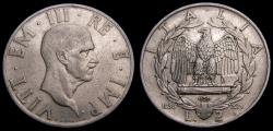 World Coins - Italy 1936 2 Lire Key Date Low Mintage 120,000 KM#78 VF Very Rare 6355