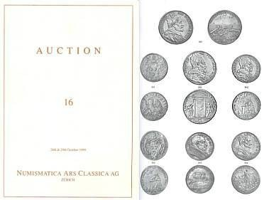 Ancient Coins - Numismatica Ars Classica (NAC) Auction 16 - October 28-29, 1999 - Papal Coins, Italian Coins, Spanish Coins, Medieval Coins
