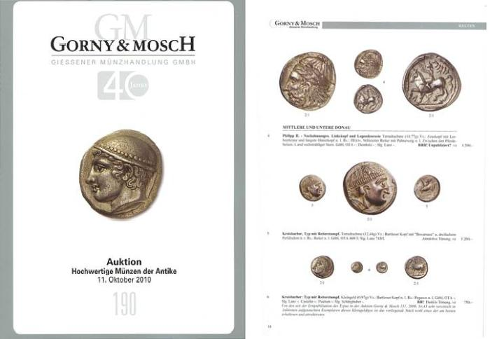 Ancient Coins - Gorny & Mosch Giessner Munzhandlung - Auction 190 - October 11, 2010 - Ancient Coins